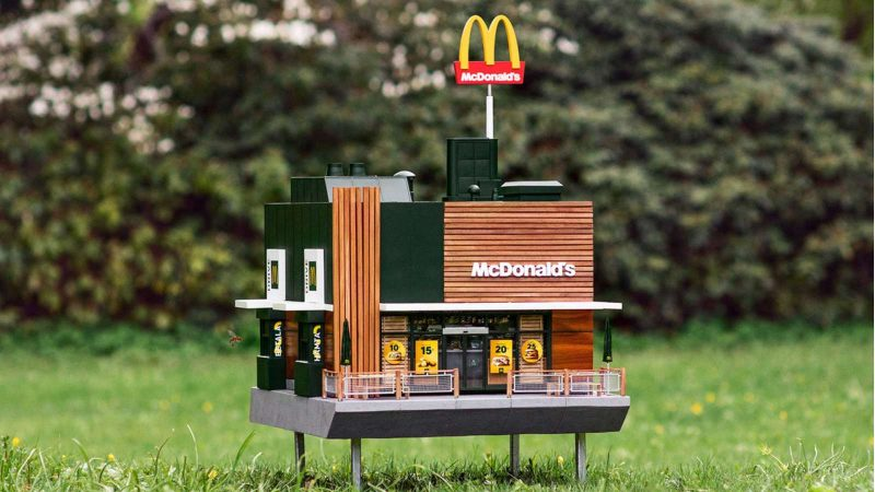 The world's smallest McDonald's opens in Sweden – and it's just for bees!