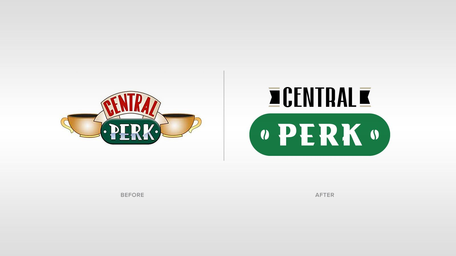 A design firm has updated some of the most famous fake logos from film & TV
